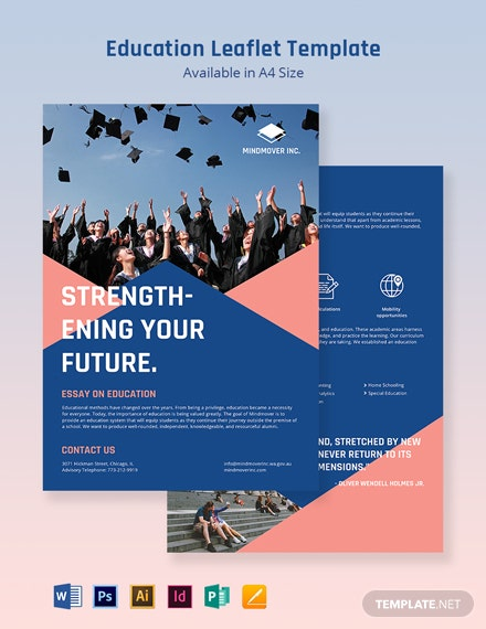 Education Leaflet Template