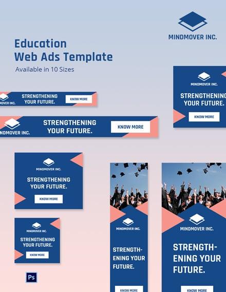 Education Web Ads Format