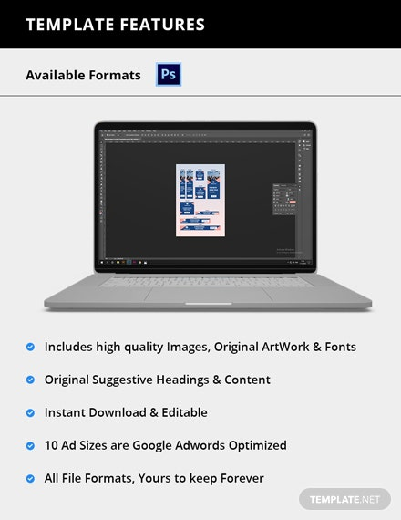 Editable Education Web Ads Template