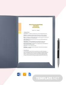 Residential Construction Scope of Work Template
