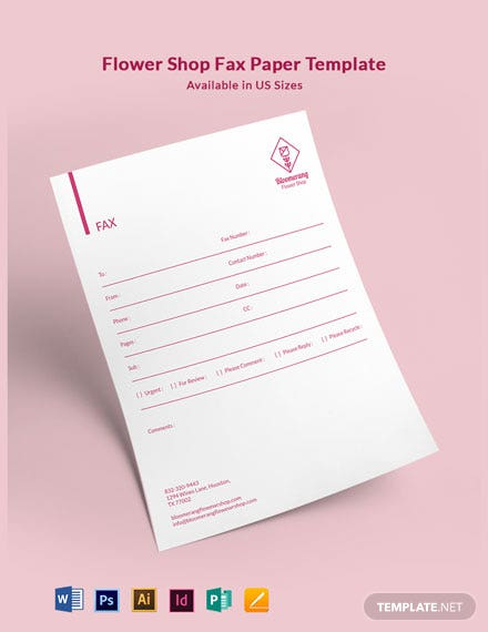 Flower Shop Fax Paper Template