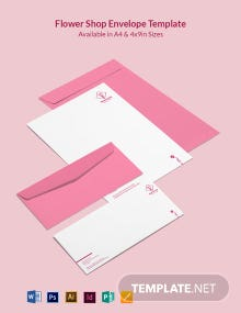 Flower Shop Envelope Template