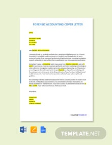 Free Forensic Accounting Cover Letter Template