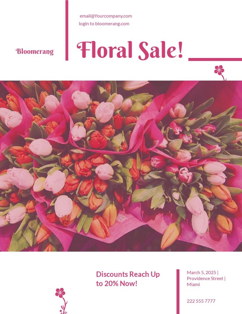 Flower Shop Promotional Flyer Template.jpe