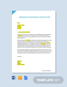 Free Associate Accountant Cover Letter Template
