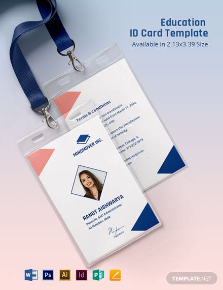 Education ID Card Template