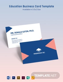 Education Business Card Template