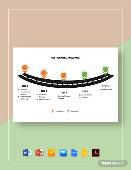HR Payroll Roadmap Template