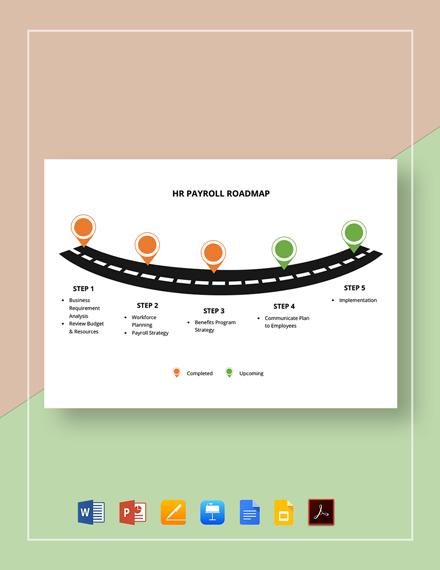 HR Payroll Roadmap Template