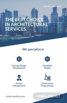 Free Architecture Poster Template