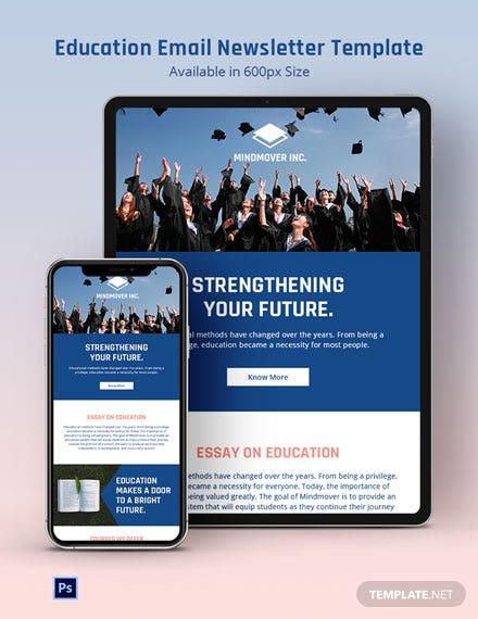 Education Email Newsletter Template