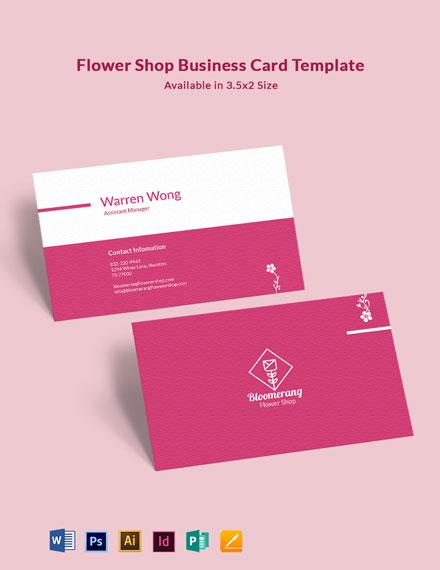 Modern Flower Shop Business Card Template