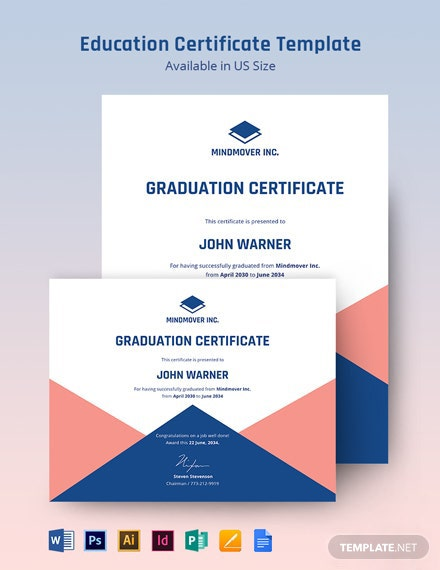 Education Certificate Template