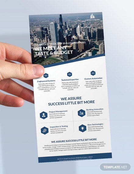 Free Architecture Rack Card Template