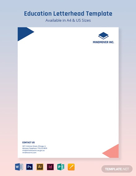 Blank Education Letterhead