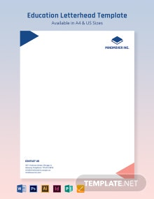 Blank Education Letterhead Template
