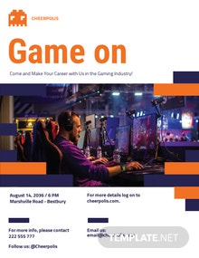 Gaming Company Flyer Template