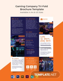 Gaming Company Tri-Fold Brochure Template