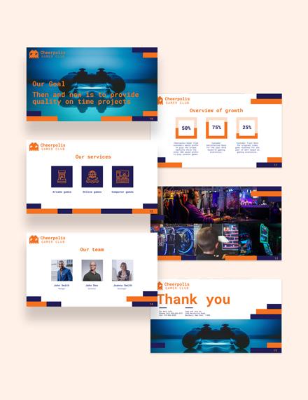 Gaming Company Presentation Template