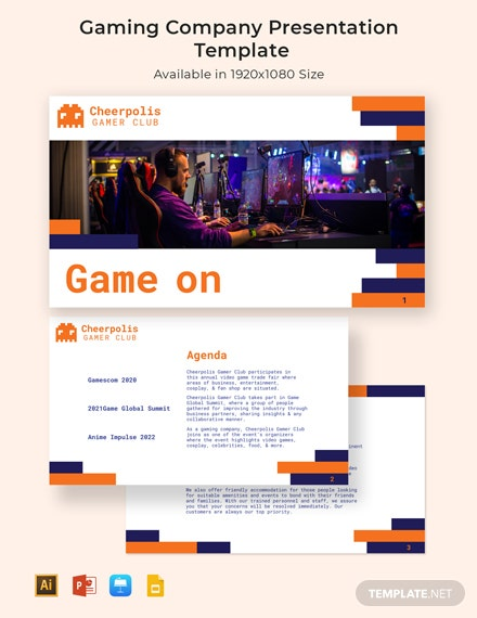 Gaming Company Presentation Template