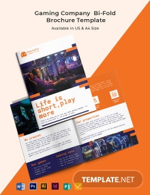 Gaming Company Bi-Fold Brochure Template