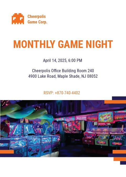 Gaming Company Invitation Template