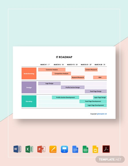 Free Editable IT Roadmap Template