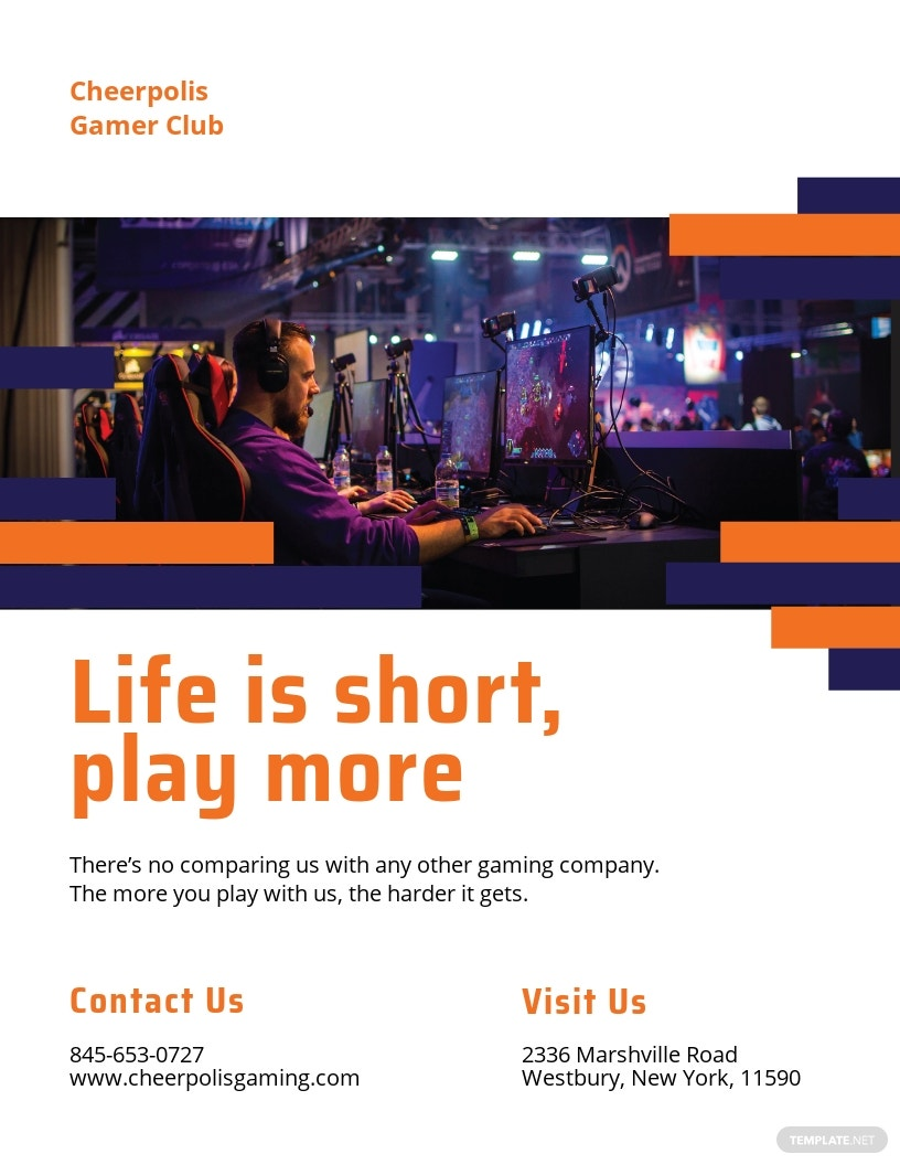 Gaming Company Pamphlet Template