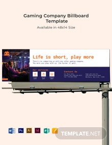 Gaming Company Billboard Template