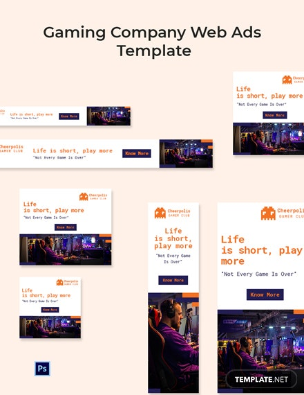 Gaming Company Web Ads Template