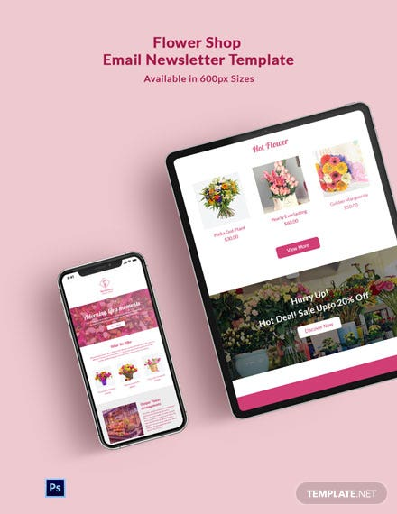 Flower Shop Email Newsletter Template