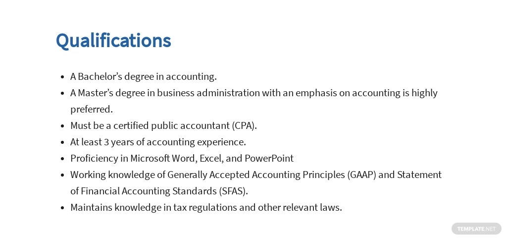 Free General Accountant Job Ad/Description Template 5.jpe
