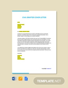 Free Civil Drafter Cover Letter Template