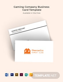 Gaming Company Business Card Template