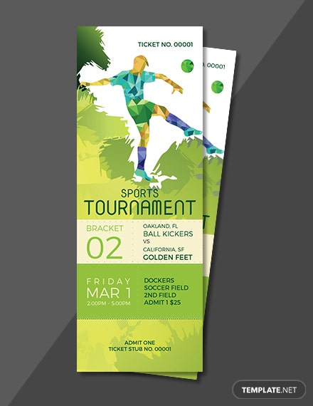 FREE Sports Ticket Template: D...
