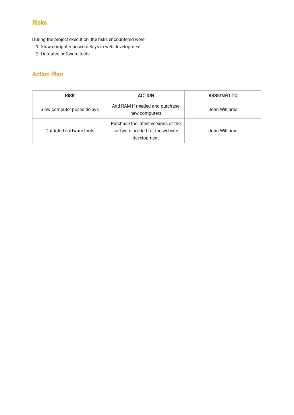 Free Team Weekly Status Report Template 2.jpe