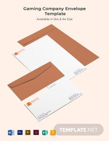 Gaming Company Envelope Template