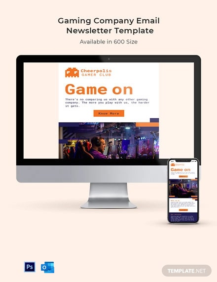 Gaming Company Email Newsletter Template