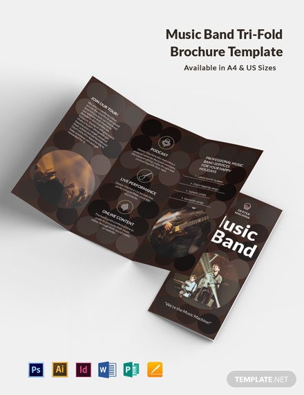 Music Band Tri-Fold Brochure Template