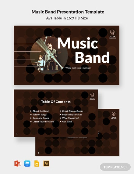 Music Band Presentation Template