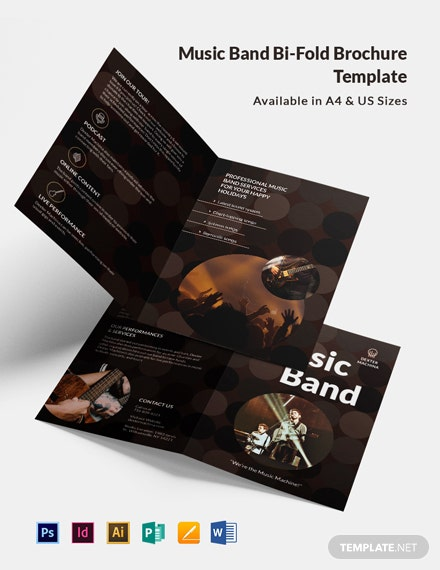 Music Band BiFold Brochure Template