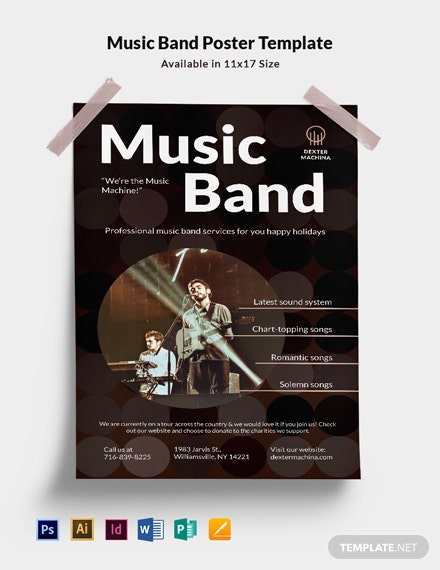 Music Band Poster Template