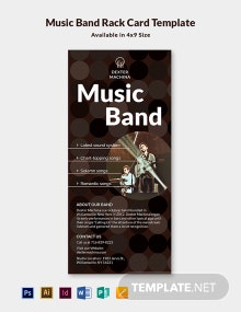 Music Band Rack Card Template