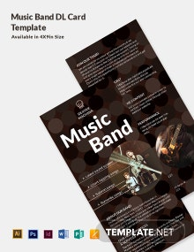 Music Band DL Card Template