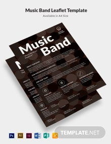 Music Band Leaflet Template