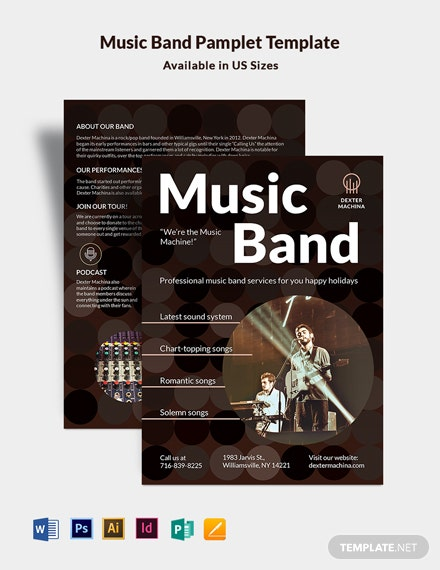 Music Band Pamphlet Template