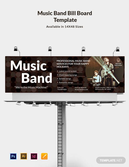 Music Band Billboard Template
