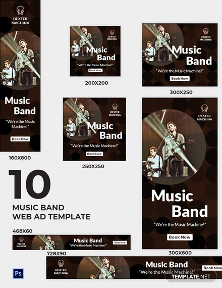 Music Band Web Ads Template