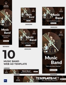 Music Band Web Ads Template