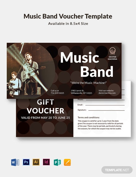 Music Band Voucher Template